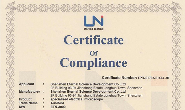 CE certificate of Eternal ETN Series Products