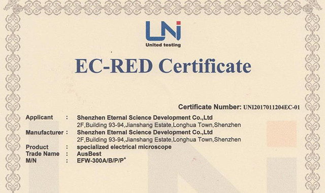 CE certificate of Eternal EFW Series Products